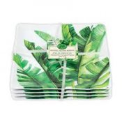 MICHEL DESIGN WORKS - PALM BREEZE CANAPE PLATES 4 PACK