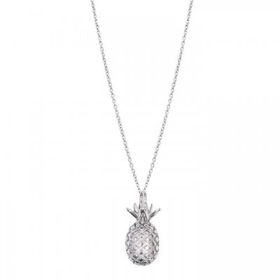 PIPOLS BAZAAR - PINEAPPLE LONG NECKLACE SILVER